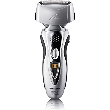 Panasonic ES8103S Mens 3-Blade (Arc 3) Wet/Dry Rechargeable Electric Shaver with Nanotech Blades, Silver