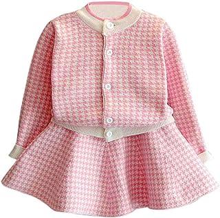 Kobay Kleinkind Kinder Baby Mädchen Outfit Kleidung Plaid G