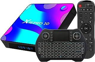 comprar comparacion Android TV Box 10, 4GB RAM 32GB ROM Android 10 Compatible con 4K 3D, RK3318 Dual-WiFi 2.4g / 5g Smart TV Box con Mini Teclado