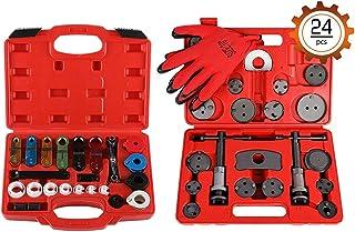 Orion Motor Tech 24pcs Disc Brake Piston Caliper Compressor Wind Back Rewind Tool Set + 22pcs Master Quick Disconnect Tool Kit