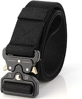 Tactical Belt Unisex Nylon Heavy Duty Waist Belt Adjustable Military Style Web Belt with Metal Buckle