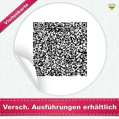 24 Aufkleber / Etiketten / Sticker | mit einem Wunsch QR Code » Funktion: Visitenkarte | Rund | Ø 40 mm | Schwarz/Weiß | FQR001-vk | CuteLove & Head-Beat