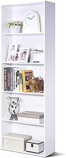 COSTWAY Bibliothèque avec 5 Étagères de Rangement pour Livres en MDF, Armoire de Rangement Modulables avec 5 Casiers Simpl...