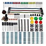 DSD TECH Elettronica Component Basic Starter Kit con resistore Condensatore Diodo a LED transistor e cavo Dupont per Arduino UNO R3 Mega 2560 Nano Lampone Pi
