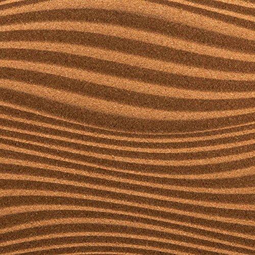Biosughero 3 D Waves Kork Dämmplatte / Dekokork (Durchmesser 60 x 30 cm - Dicke 8 mm)
