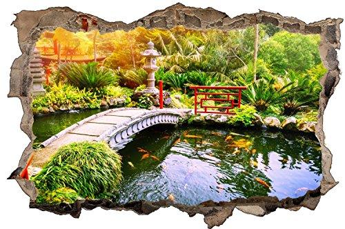 Japan Garten Landschaft Teich Wandtattoo Wandsticker Wandaufkleber D1166 Größe 70 cm x 110 cm