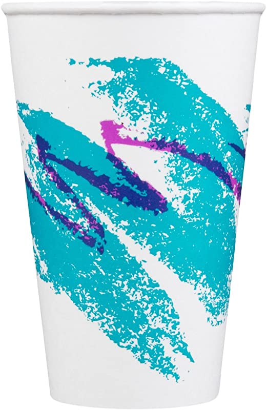 Dart Solo RP12NP 00055 Jazz 12 Oz Poly Paper Cold Cup 100 Pack