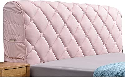 Thicken Bed Head Cover All-Inclusive Headboard Cover Bed Head Back Protective Case (Color : Pink, Size : 220cm)
