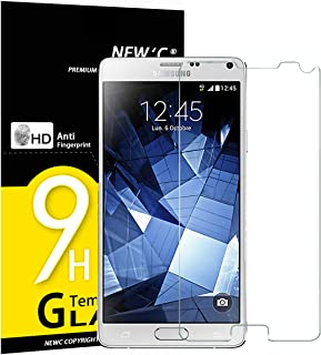 NEW'C 3 Unidades, Protector de Pantalla para Samsung Galaxy Note 4, Vidrio Cristal Templado