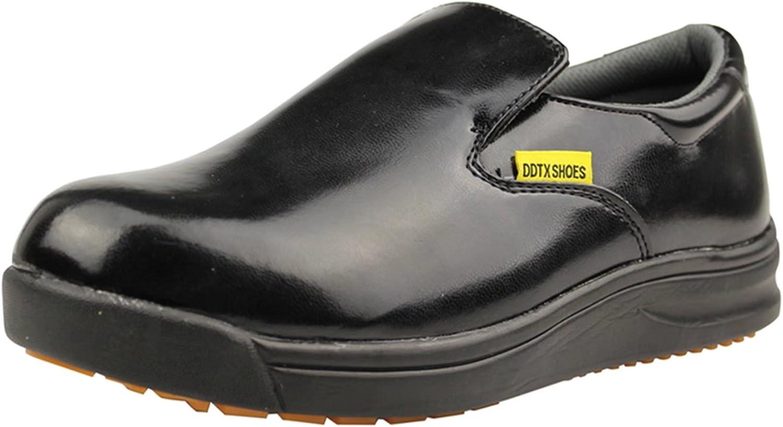 DDTX Slip Oil Resistant Purchase Slip-on Now on sale Mens Black White Shoes Work