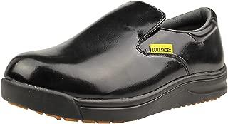 DDTX Slip Oil Resistant Slip-on Mens Work Shoes Black/White