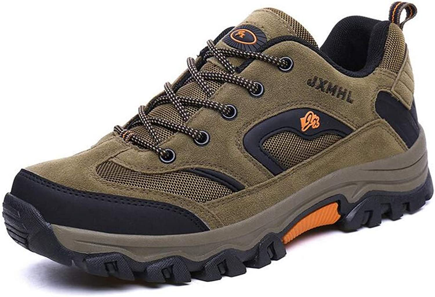 Y-H Mens Boots - Fall Winter Mesh Walking shoes, Men's Outdoor Hiking shoes Climbing Sneakers Footwear For Hiking & Trekking (color   Khaki, Size   43)