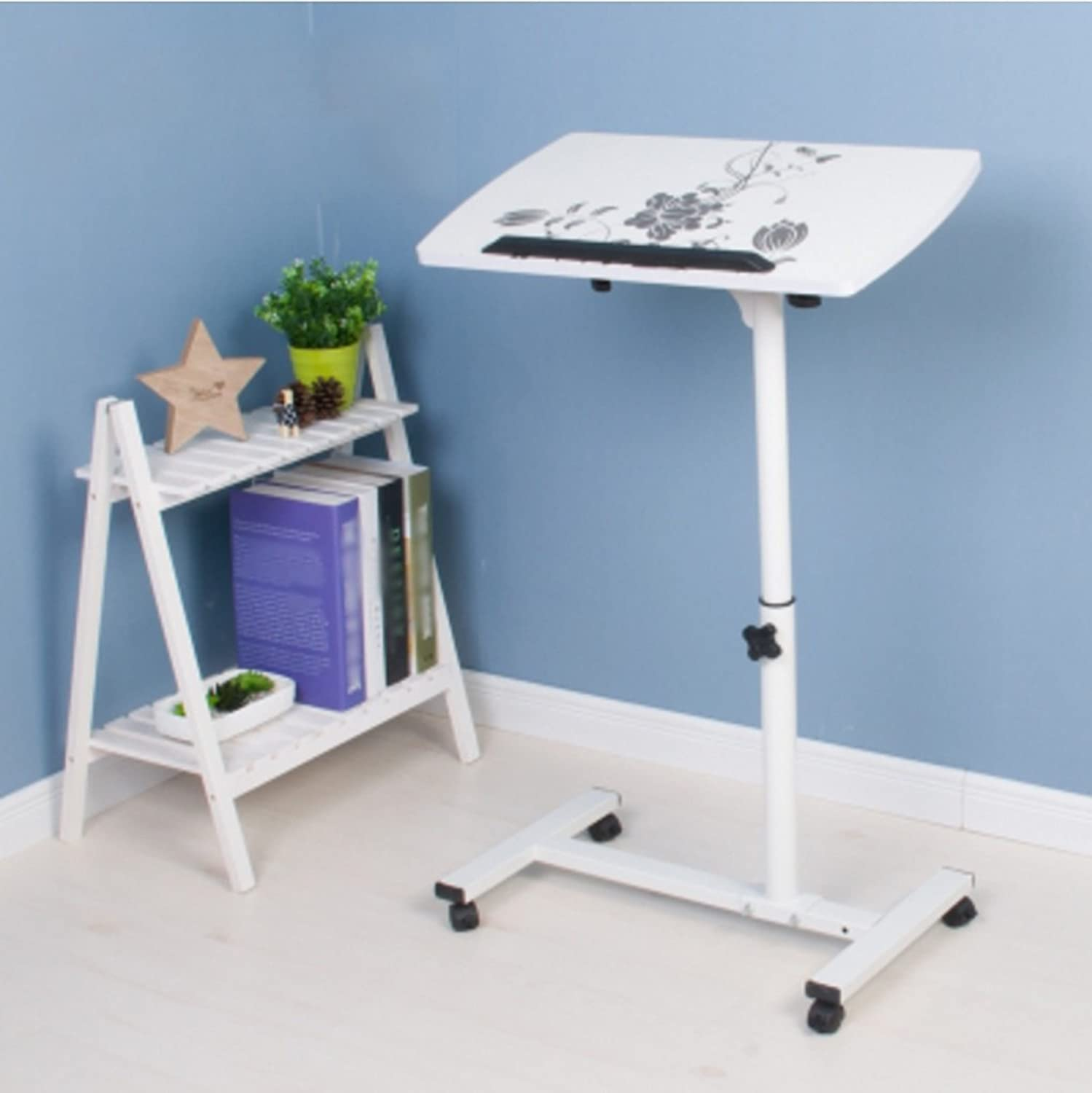 HBJP Assembly Lazy redate Laptop Table Bed Collapsible Simple and Modern Folding Table (color    2)