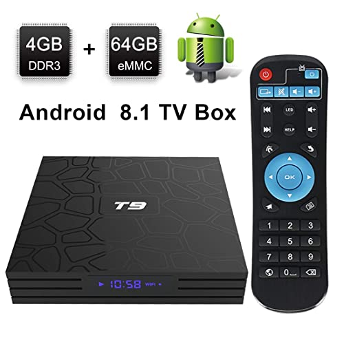 Android TV Box, HAOSIHD T9 Android 8.1 TV Box,4GB RAM 64GB ROM RK3328