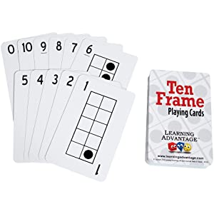 LEARNING ADVANTAGE - Ten Frames Playing Cards