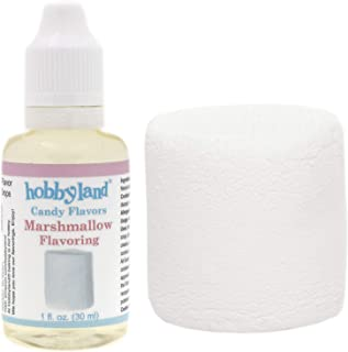 Hobbyland Candy Flavors (Marshmallow Flavoring, 1 Fl Oz), Marshmallow Concentrated Flavor Drops
