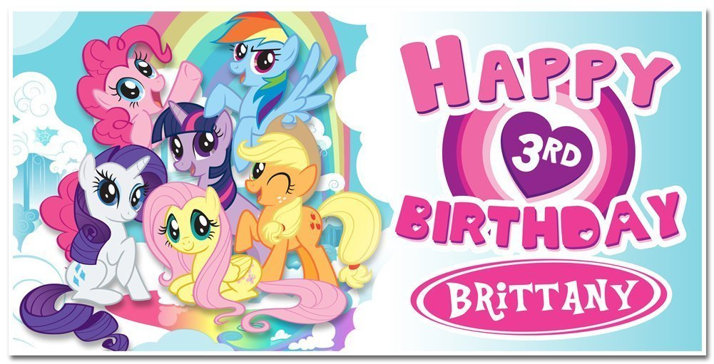 Personalized My Little Banner Pony latest Popular overseas Party