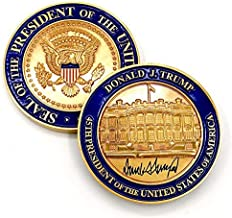 Trump Coin - US President (45th) Donald J. Trump, White House POTUS Signed Challenge Coin.