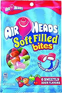 Air Heads Soft Filled Bites Candy, 6 Ounce Peg Bag -- 12 per case.