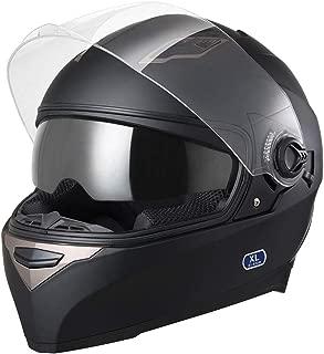 AHR DOT Motorcycle Full Face Helmet Dual Visors Sun Shield Lightweight ABS Motorbike Touring Sports