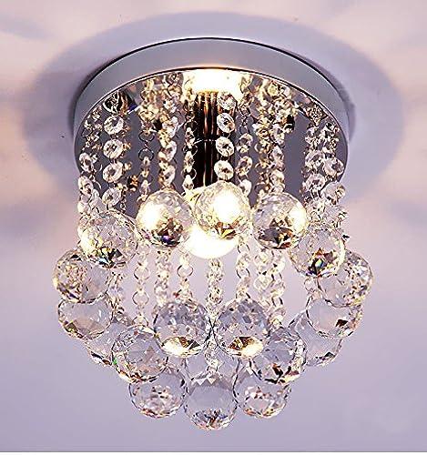 Suspension lustre Plafonnier en cristal européen rond salon salle à hommeger allée plafonnier couloir, diamètre 30 cm