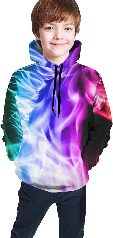Rainbow Fire Horse Unicorn Hoodies for Kids Boys Girls Hooded Sweatshirt Pullover Long Sleeve Shirts