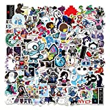 Under_Tale Stickers 100PCS Game Vinyl Decals for Motorcycles Skateboards Bicycles Case San_s Smile Face Decor for Boys