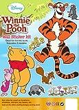 Disney Winnie The Pooh, Wall Sticker Kit, Pack Of 3 Sticker Pages, Tigger Eeyore Piglet Kanga Roo Rabbit Owl Christopher Robin