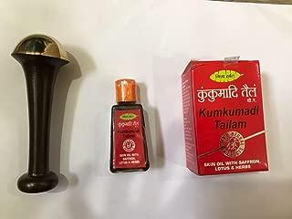 KANSA WAND BRONZE Body Massager Size SMALL + KUMKUMADI TAILAM Saffron Oil 25ml