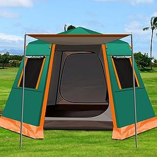 JQDZX Familjecampingtält, utomhus kupoltält 4/6 mans tält UV-skydd vattentät omedelbar tält baldakin lätt att sätta upp, f...