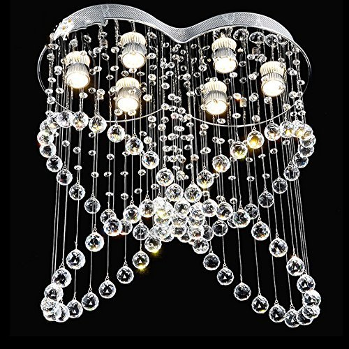 JIAWYJ YANGHONG-Araña de Estilo Industrial- Cristal con Colorido Colgando Mariposa en Forma de iluminación/ddbbemgd-514 OUZHOUZD-5