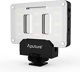 Aputure Amaran AL-M9 LED Video Light Built in Battery Pockable TLCI/CRI 95+ On-camera Fill Light 9pcs SMD Lighting for DSLR Camera