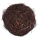 Nido de pájaro de ratán Suministro de decoración de Fiesta de Pascua Tejido a Mano Soporte de Huevo de Pascua Vid marrón Nido de pájaro decoración del hogar de Pascua