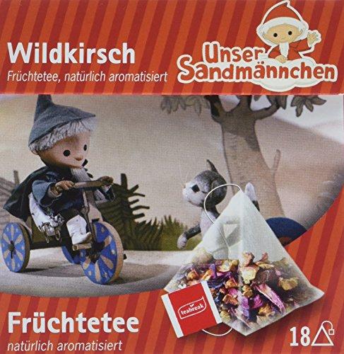 Teabreak Sandmännchen Früchtetee Wildkirsch natural, 8er Pack (8 x 39.6 g)