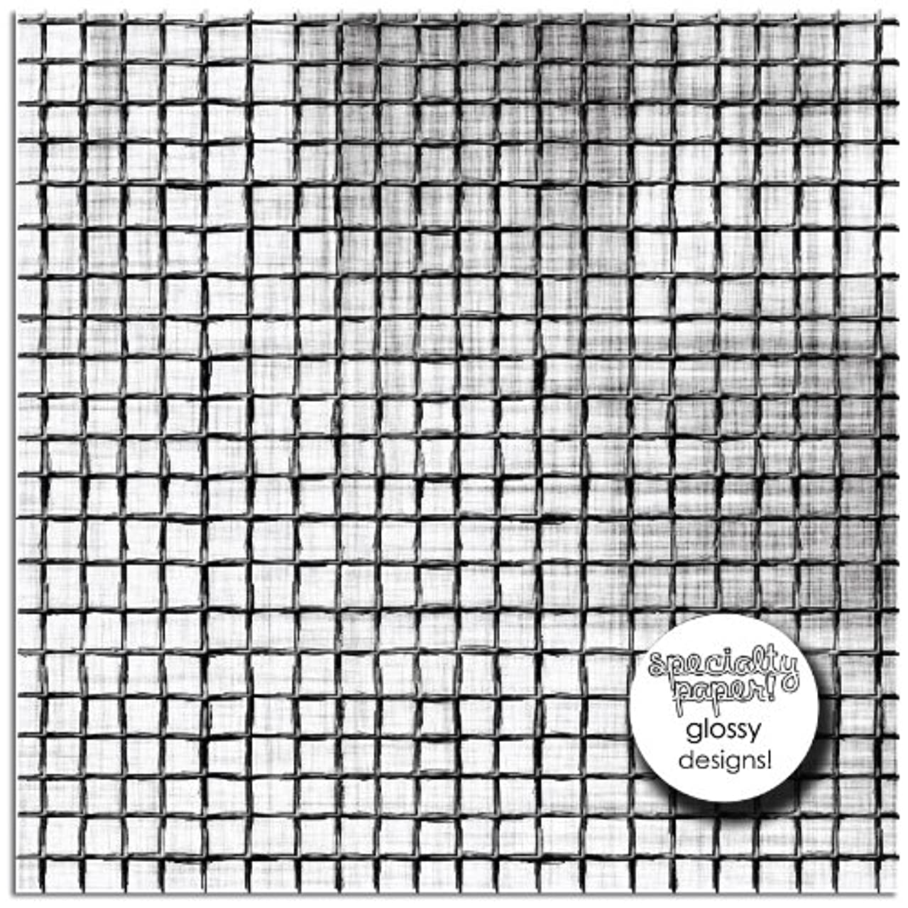 Prima 840501 12 by 12-Inch Rebellious Double Sided Patterned Cardstock Paper, Boring, 25-Pack