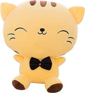 Wemi Cute Kawaii Cat Plush Toys Anime Stuffed Animal Doll Cushion Toy Yellow