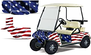 1983-2014 Club Car Golf Cart AMRRACING ATV Graphics Decal Kit-Stars and Stripes