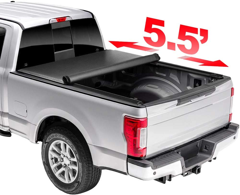 Kucaruce 5.5' New product Soft Lock Roll Up Rain Tonneau Proof Snow Cover In stock
