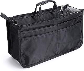 Sumnacon バッグインバッグ インナーバッグ リュック バッグイン トラベルポーチ 化粧ポーチ 大容量 収納バッグ 小物整理 収納力抜群 キャンプ 旅行 出勤 (ブラック)