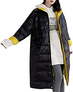 iHHAPY Women's Down Jacket Long Coat Warm Winter Jacket Parka Jacket Quilted Coat Casual Thicken Down Jacket Down Coat