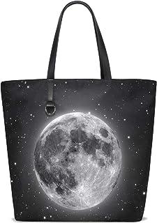 FANTAZIO Schultertasche für Damen, atemberaubende Mond-Muster, Tote Bag