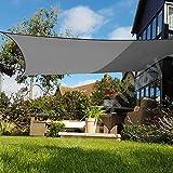 Greenbay Sonnensegel Sonnenschutz Segel, UV Schutz für Balkon Terrasse Garten, Quadrat 5x5m Anthrazit - 2