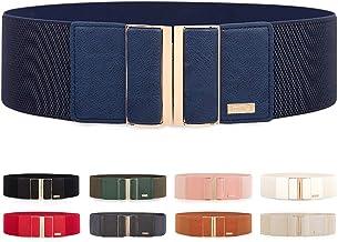 Cintura Elastica in Vita Elasticizzata da Donna con Fibbia Color Oro Elastica Cintura per Il Vestito Jeans