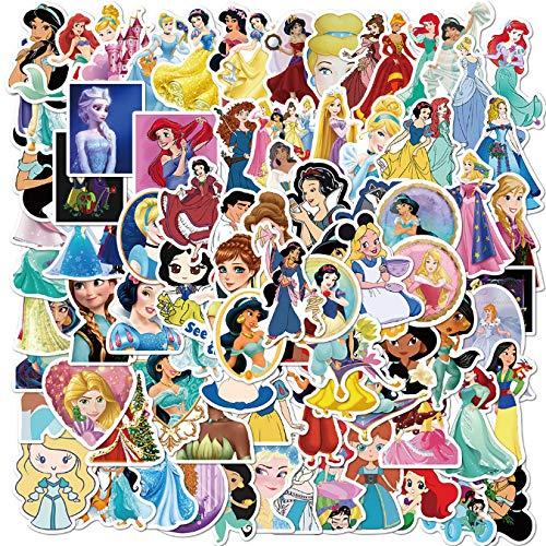 ZFHH 100pcs Disney princess stickers PVC do not repeat pegatinas car motorcycle pull bar box cartoon graffiti stickers waterproof