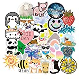 TUHAO Cute Cartoon Smiling Face Small Fresh Suitcase Notebook Skateboard Sticker Graffiti Paper Decoration Wholesale /50Pcs