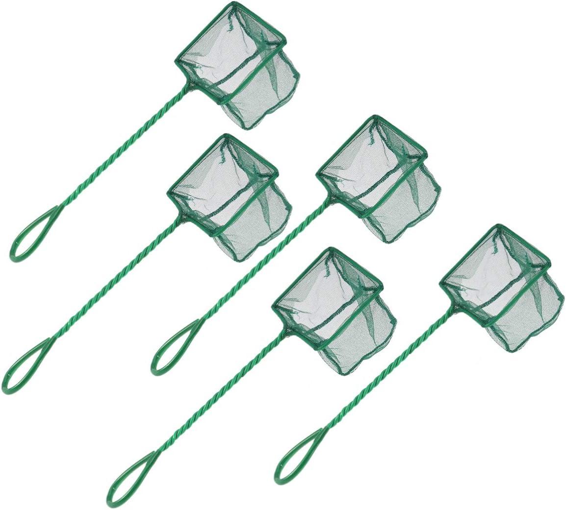 POPETPOP Max 68% OFF 5pcs New product Fishing Net Shrimp Handle Landi Fine Dip with