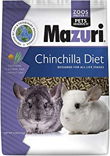 Mazuri | Nutritionally Complete Chinchilla Food | 2.5 Pound (2.5 lb)
