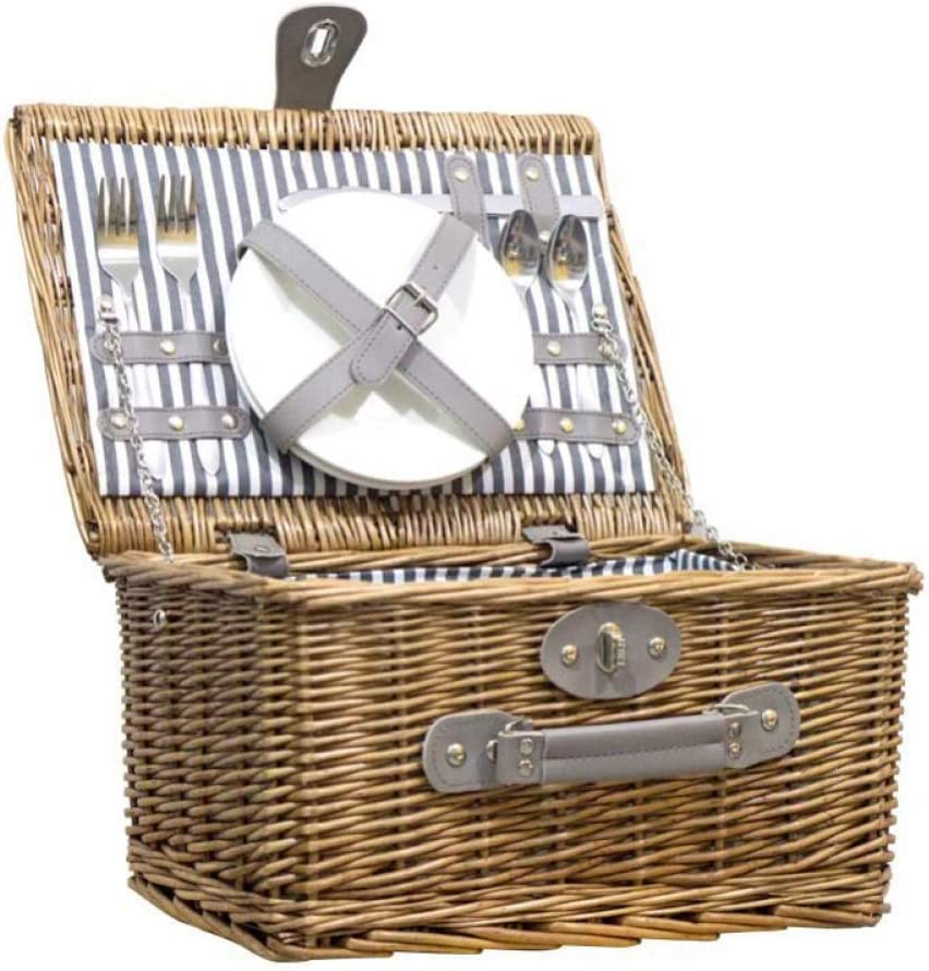 Some reservation Picnic Hamper 2 Person 35% OFF Wicker Basket Shopping B Rattan Lid with