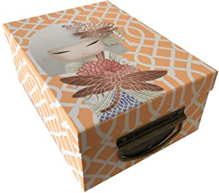 Kimmidoll - Caja de cartón (tamaño pequeño), Color Naranja: Amazon.es: Hogar