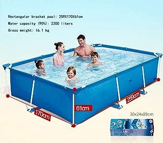ZXMDP Piscina Familiar pequeña Piscina Infantil de Olas de Verano Niños Adultos Que nadan en el jardín 400cm x 211cm x 81cm